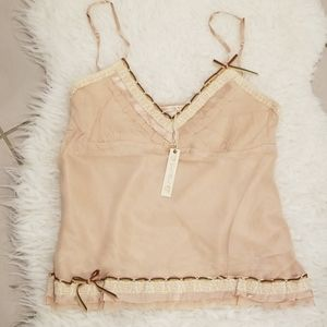 GOLD HAWK 100% Silk Camisole Peaches (Size: Large)